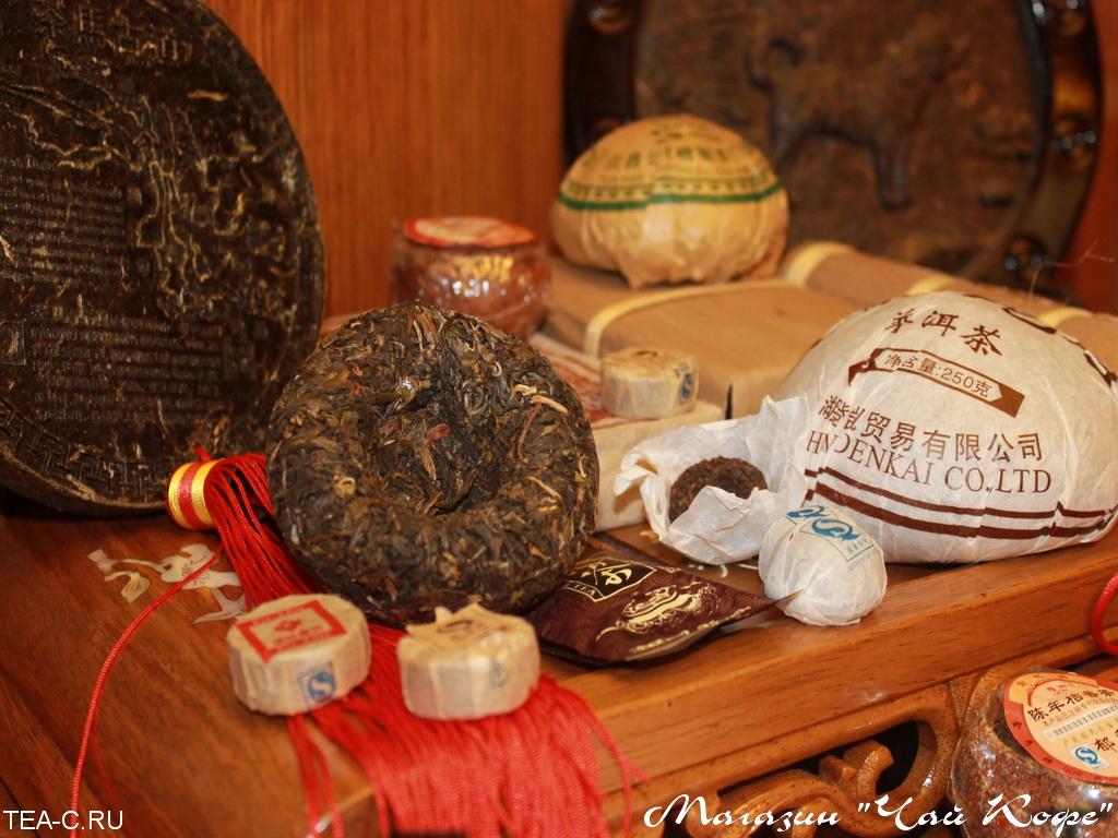 чай шу пуэр кирпич старые чайные головы